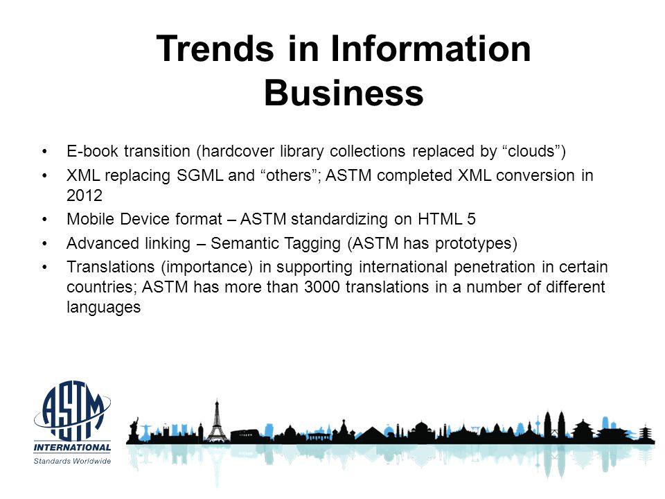 Trends in Information Business
