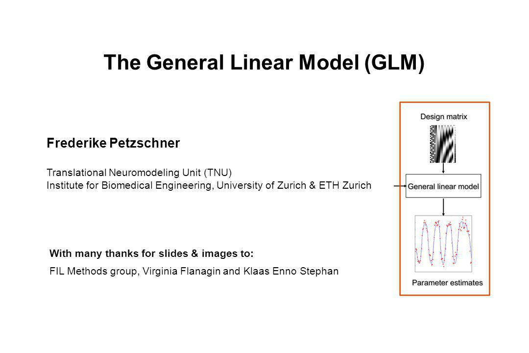 The General Linear Model (GLM)