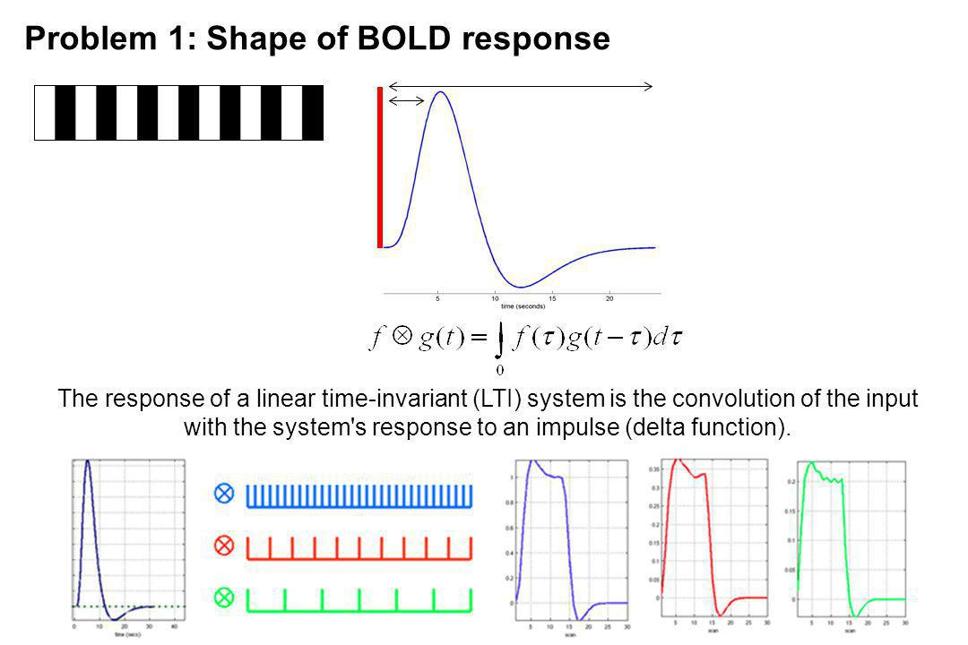 Problem 1: Shape of BOLD response