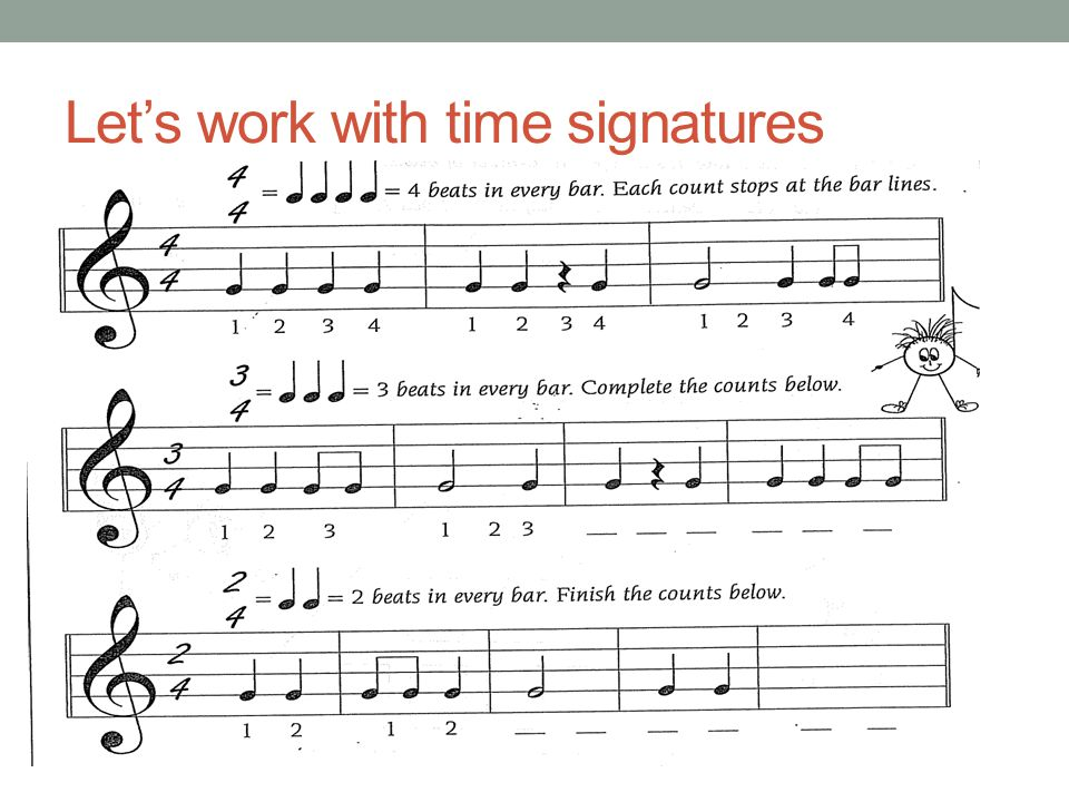 Let's work with time signatures