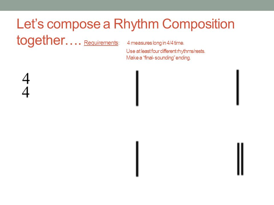 Let's compose a Rhythm Composition together…