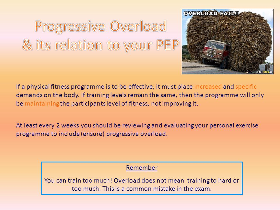 Progressive Overload & its relation to your PEP