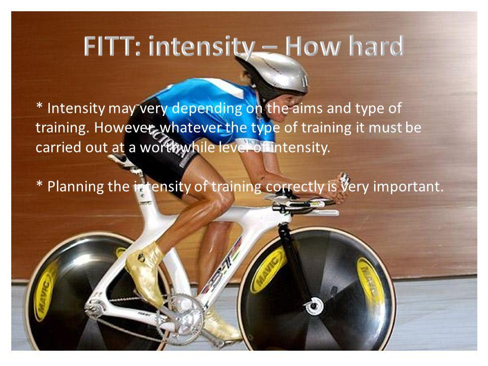 FITT: intensity – How hard