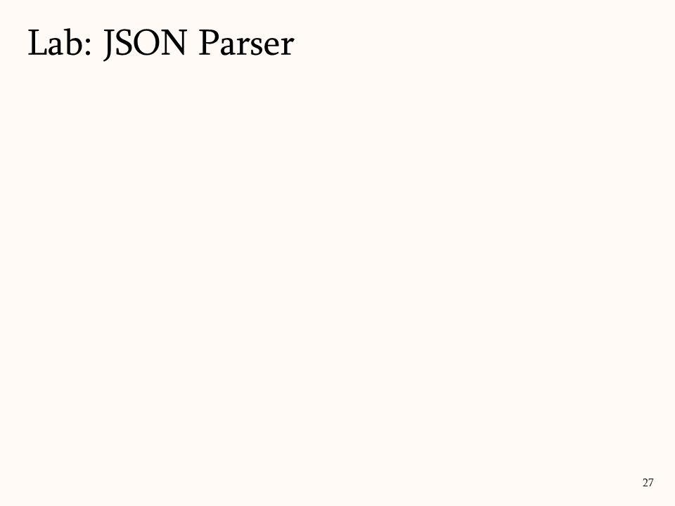Lab: JSON Parser <script>