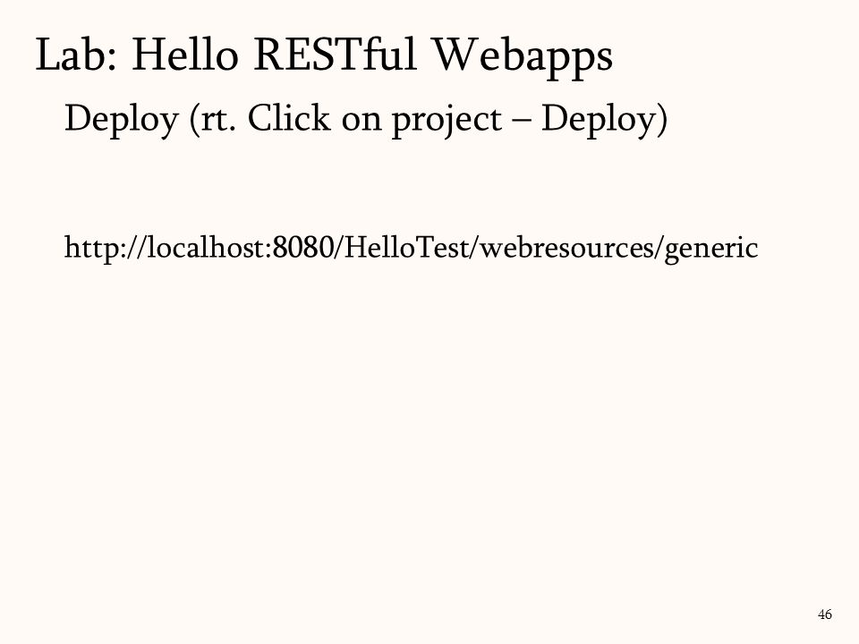 Lab: Hello RESTful Webapps