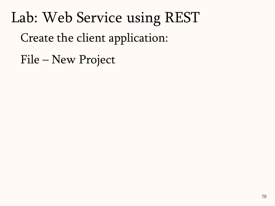 Lab: Web Service using REST