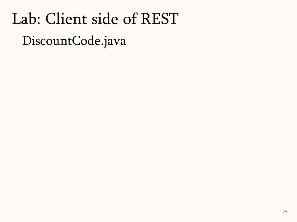 Lab: Client side of REST
