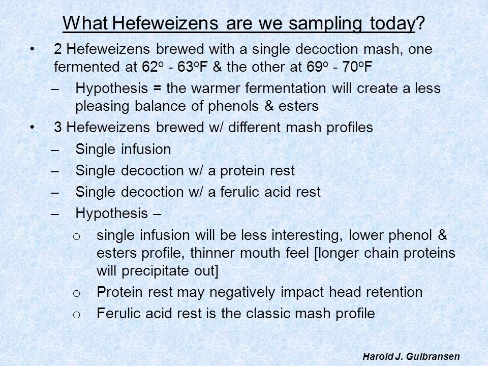 What Hefeweizens are we sampling today
