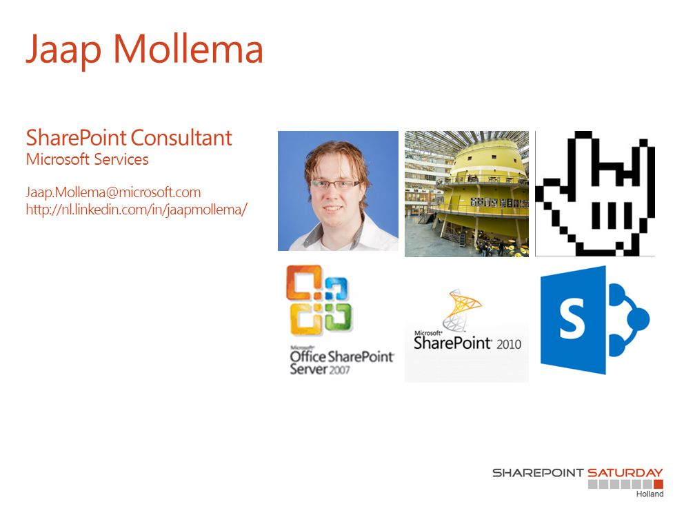 Jaap Mollema SharePoint Consultant Microsoft Services Jaap