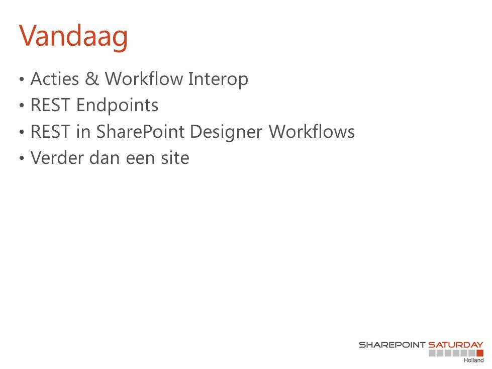 Vandaag Acties & Workflow Interop REST Endpoints