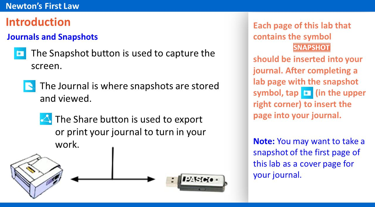 Introduction The Snapshot button is used to capture the screen.