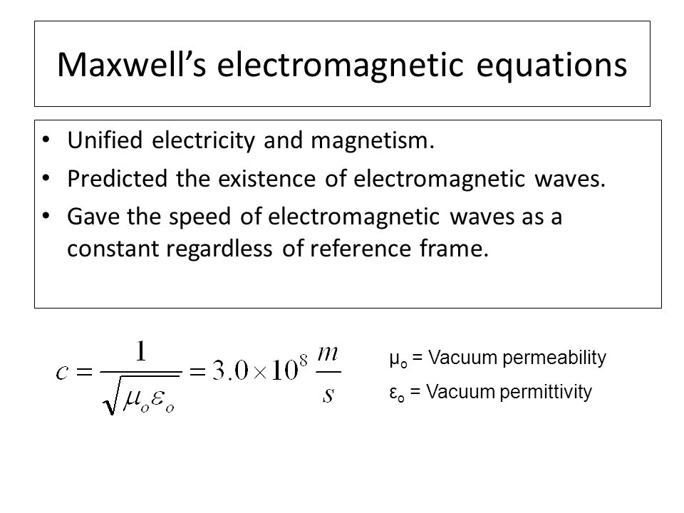 Maxwell's electromagnetic equations