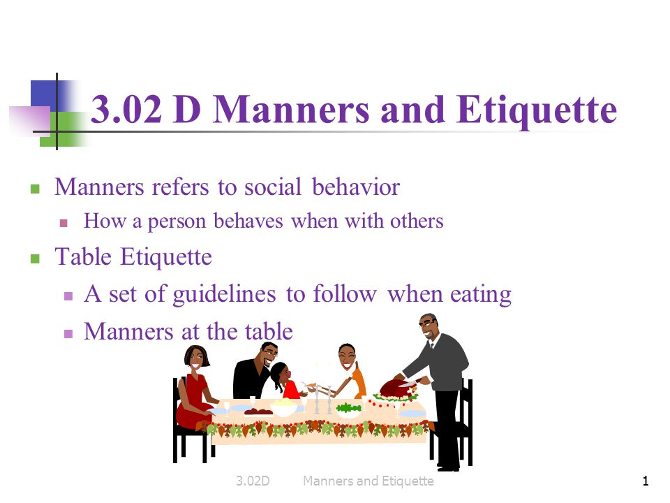 manners vs etiquette
