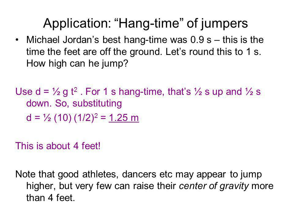 Application: Hang-time of jumpers
