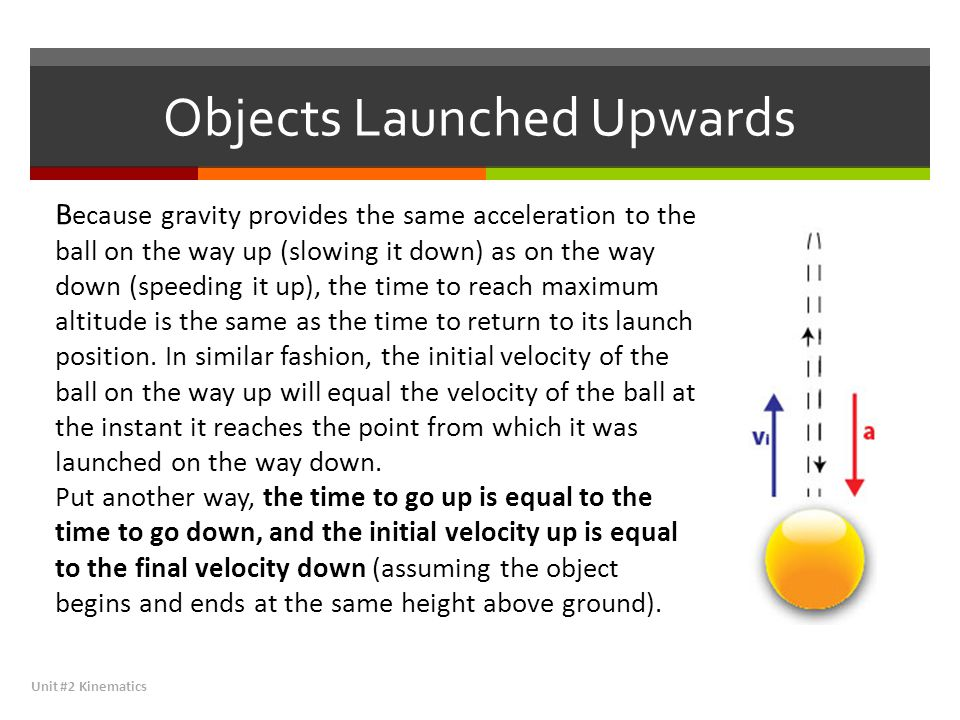 Objects Launched Upwards