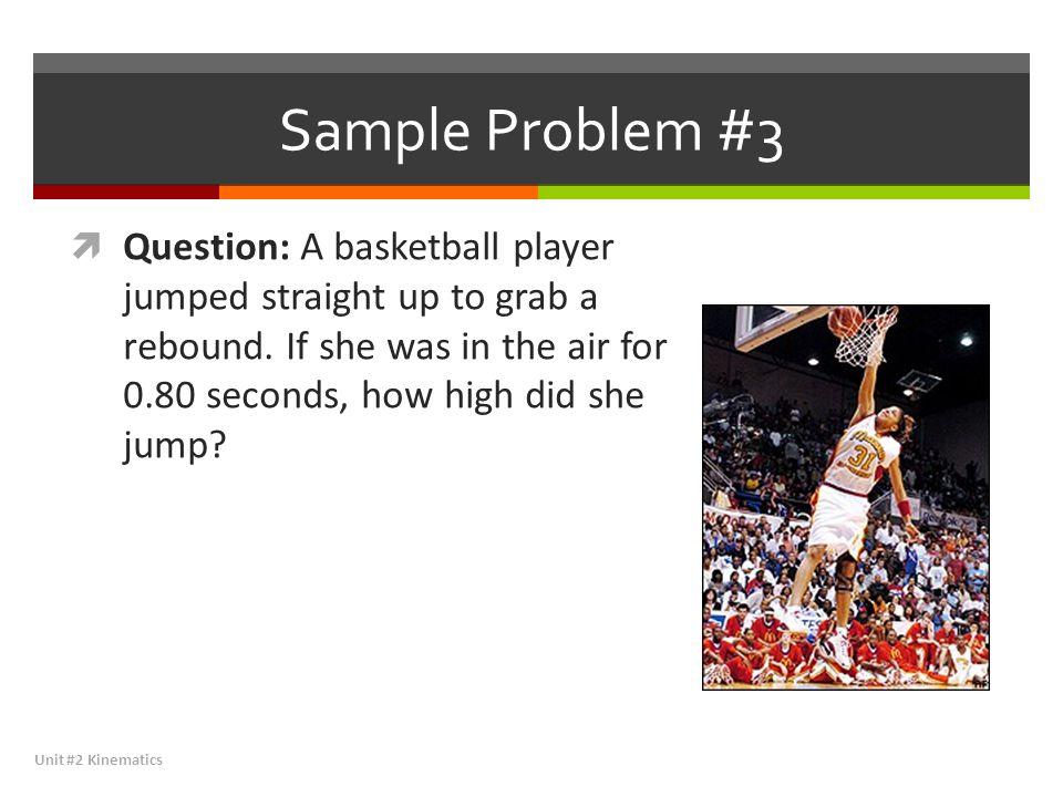 Sample Problem #3