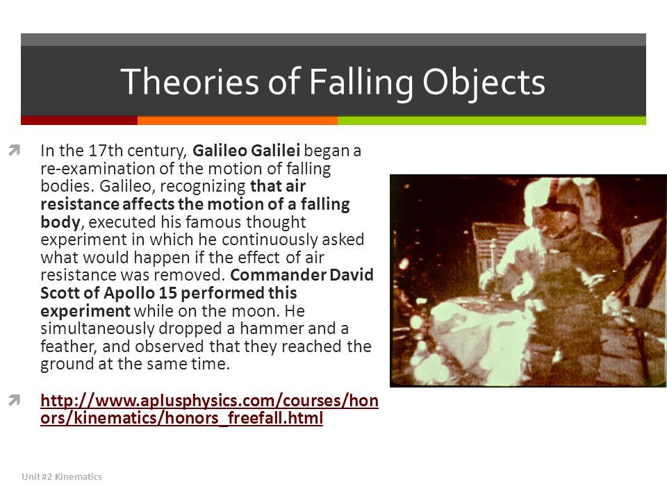Theories of Falling Objects