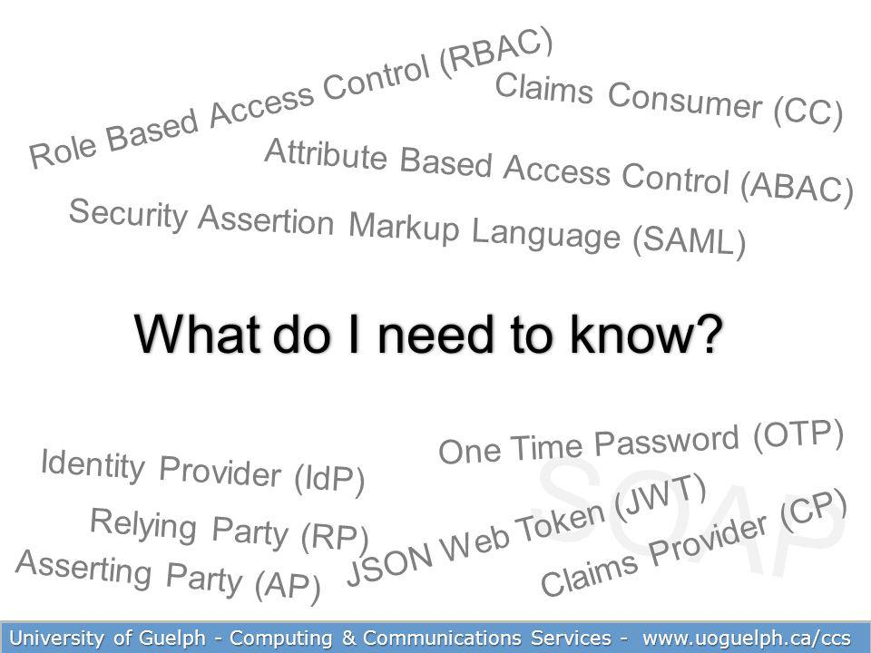 SOAP What do I need to know Role Based Access Control (RBAC)