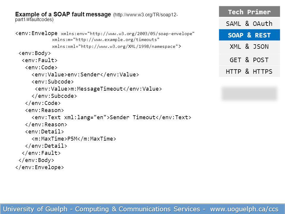Tech Primer SAML & OAuth SOAP & REST XML & JSON GET & POST