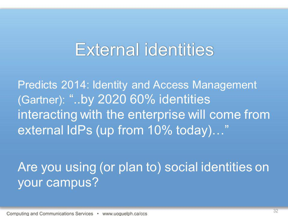 External identities
