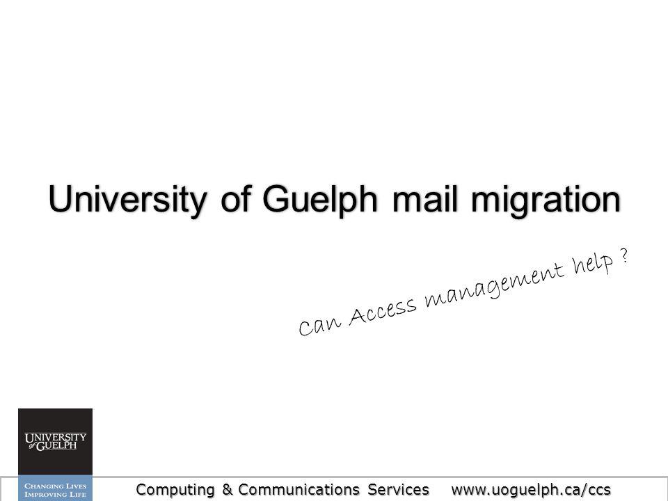 University of Guelph mail migration