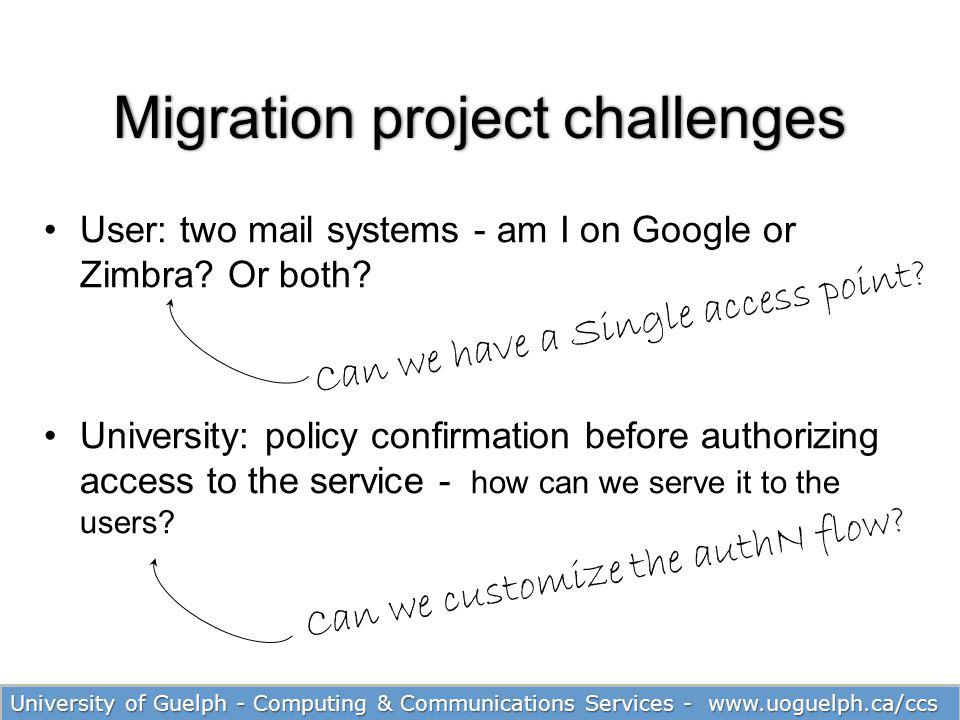 Migration project challenges