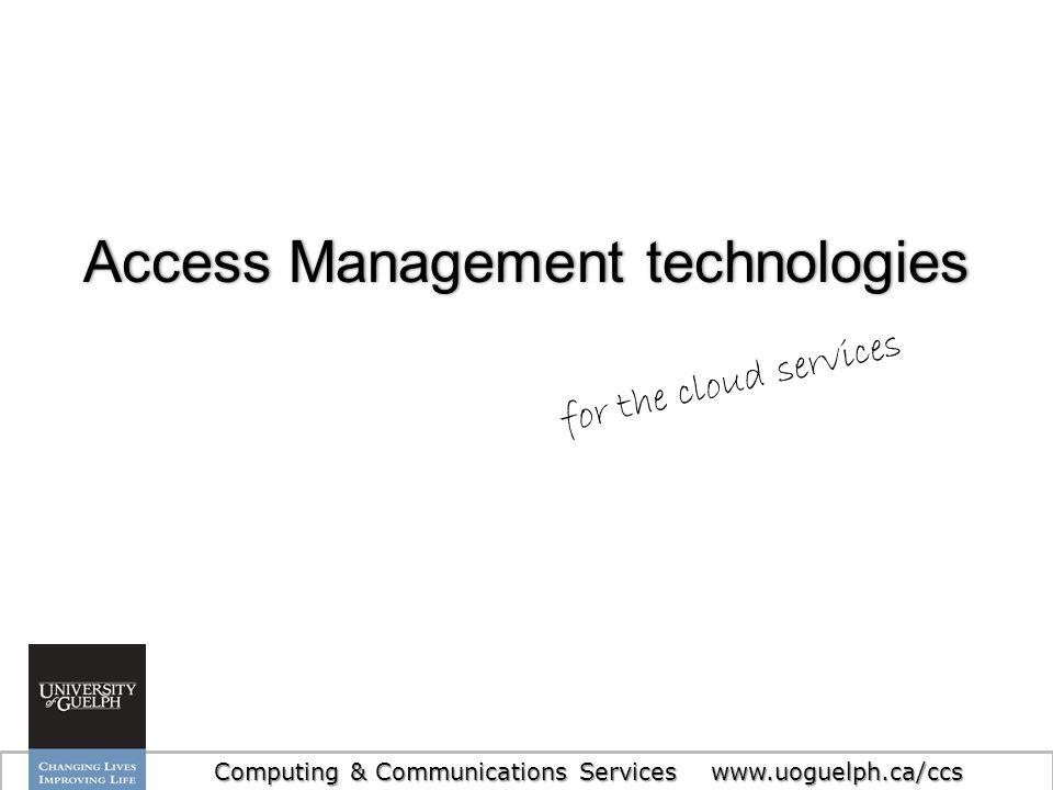 Access Management technologies