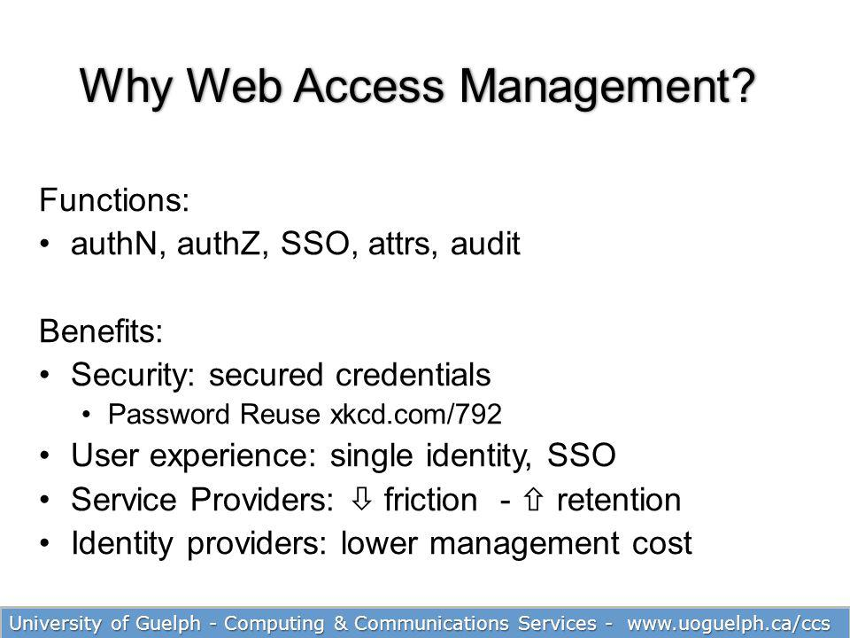 Why Web Access Management