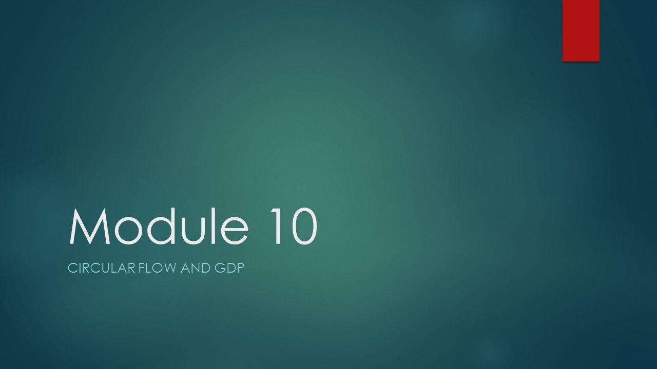 Module 10 Circular flow and Gdp
