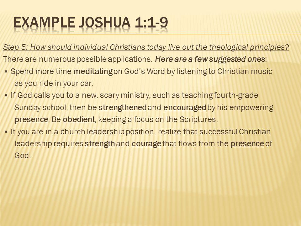 Example Joshua 1:1-9