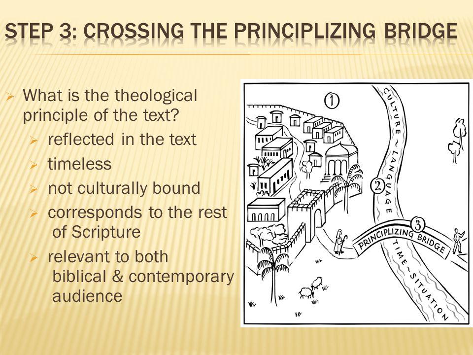 Step 3: Crossing the principlizing Bridge