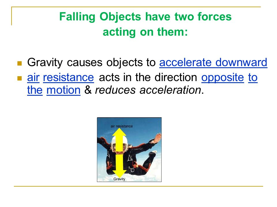 Falling Objects have two forces