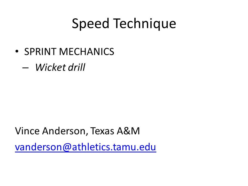Speed Technique SPRINT MECHANICS Wicket drill