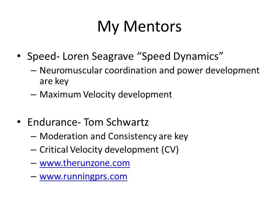 My Mentors Speed- Loren Seagrave Speed Dynamics
