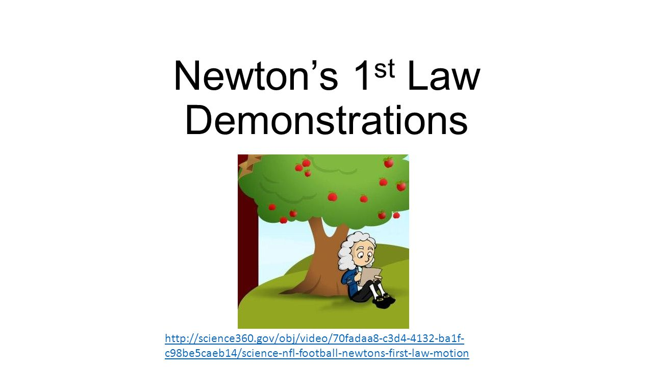 Newton's 1st Law Demonstrations