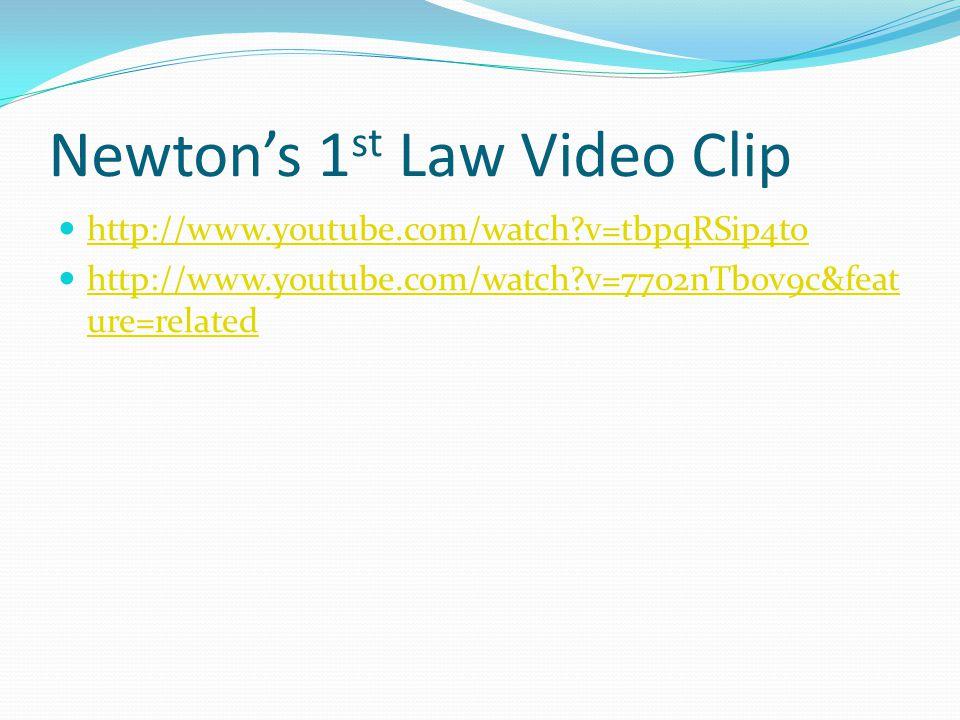 Newton's 1st Law Video Clip