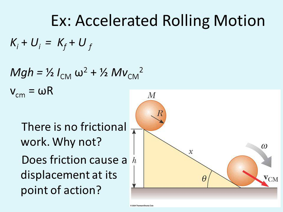 Ex: Accelerated Rolling Motion