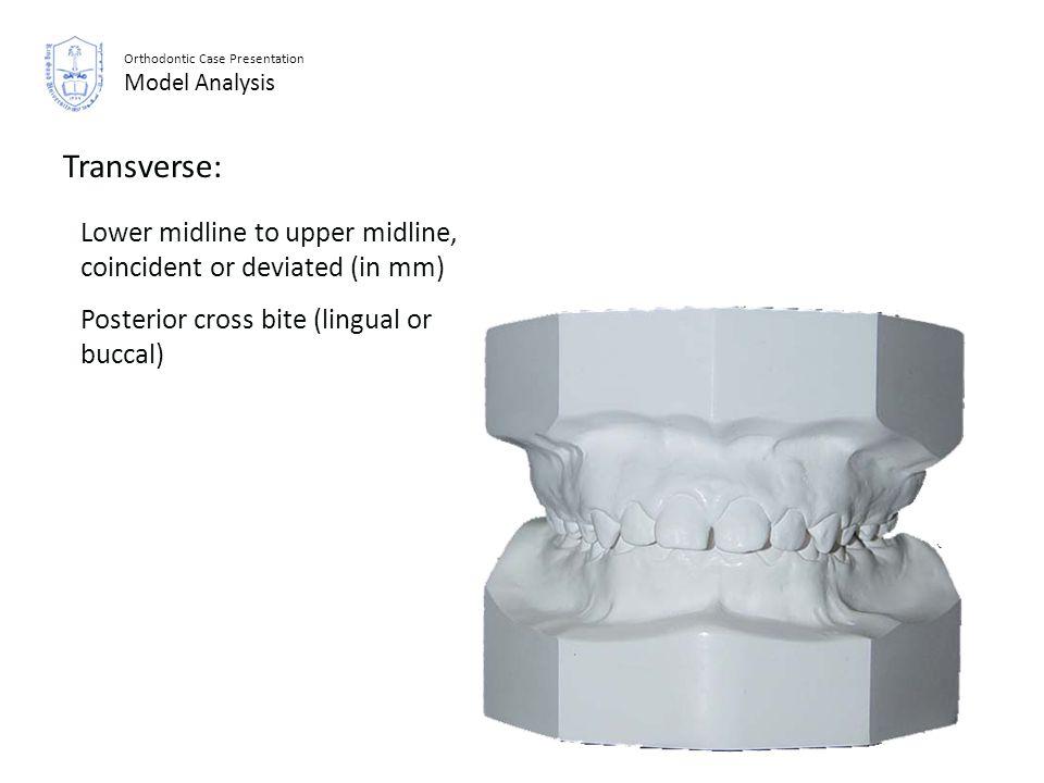 Orthodontic Case Presentation Model Analysis