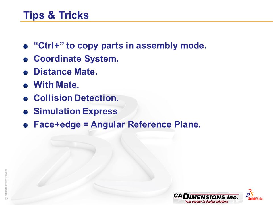 Tips & Tricks Ctrl+ to copy parts in assembly mode.