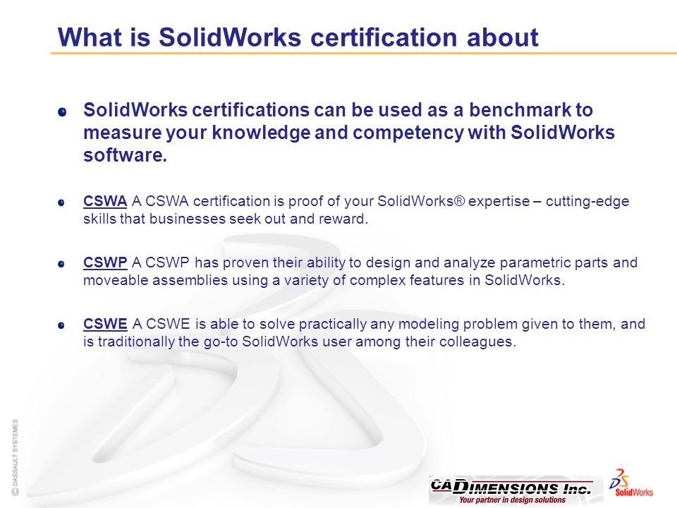 What is SolidWorks certification about