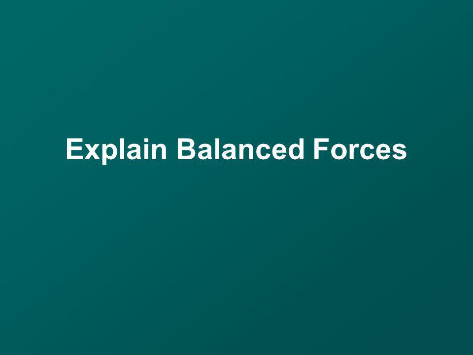 Explain Balanced Forces