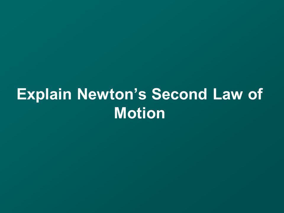 Explain Newton's Second Law of Motion
