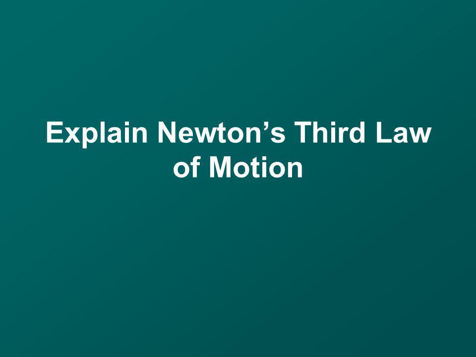 Explain Newton's Third Law of Motion