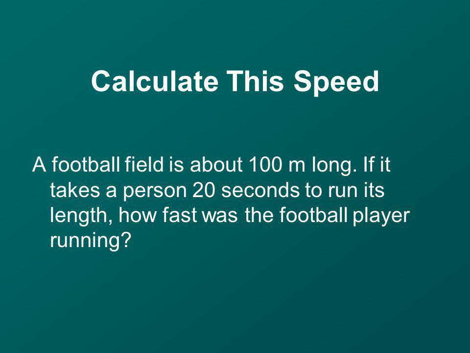 Calculate This Speed