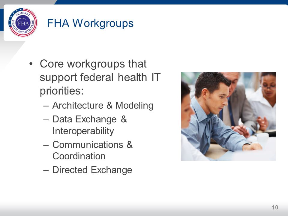 Core workgroups that support federal health IT priorities: