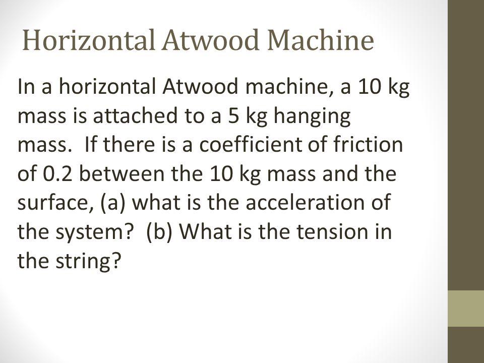 Horizontal Atwood Machine