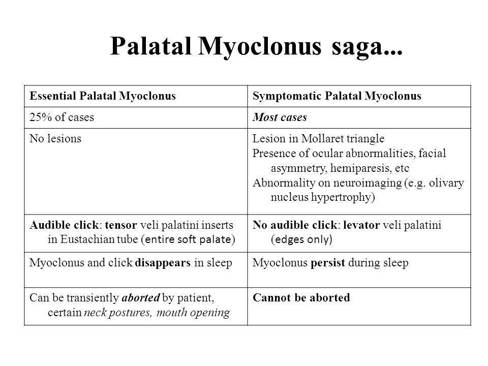 Palatal Myoclonus saga...