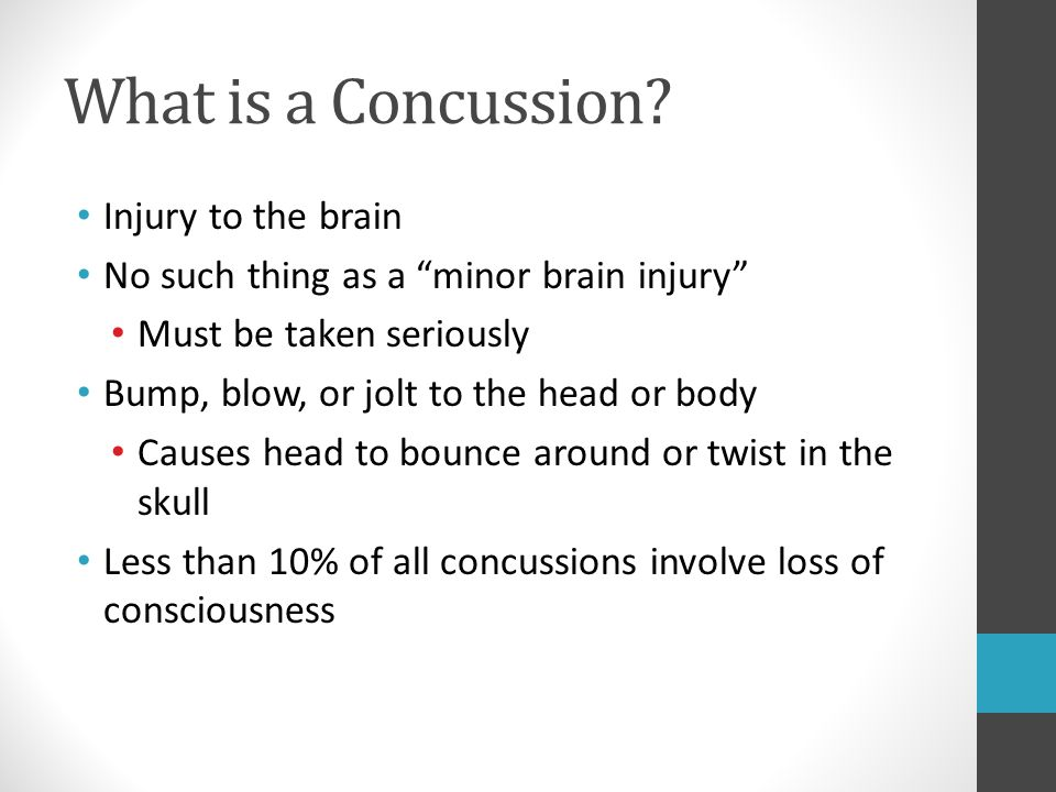 What is a Concussion Injury to the brain
