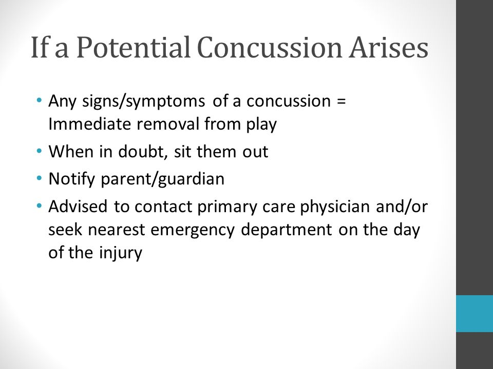 If a Potential Concussion Arises