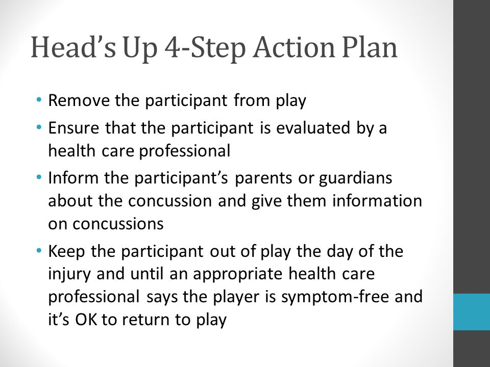 Head's Up 4-Step Action Plan
